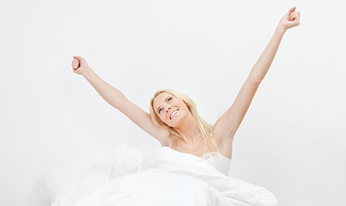waking up happy